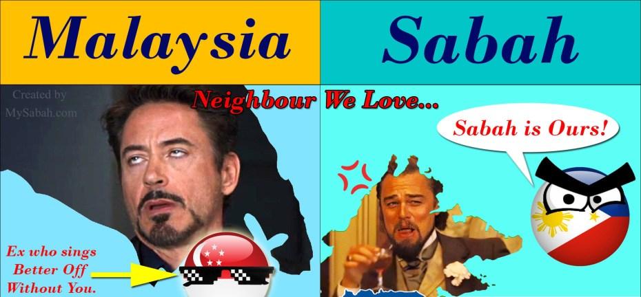 Neighbouring countries of Peninsular Malaysia and Sabah