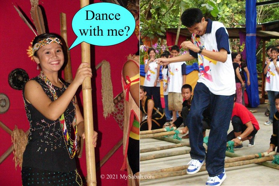 Murut girl invites you to dance Magunatip