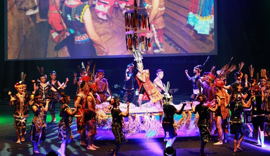 Lansaran dance of Murut