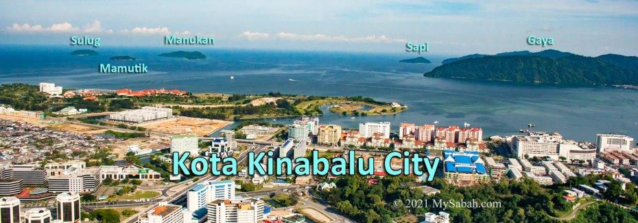 Islands (Sapi, Manukan, Mamutik, Gaya and Sulug) of Tunku Abdul Rahman Park and Kota Kinabalu City