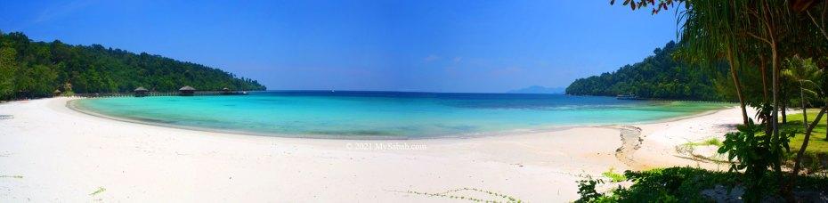 Police Beach of Gaya Island