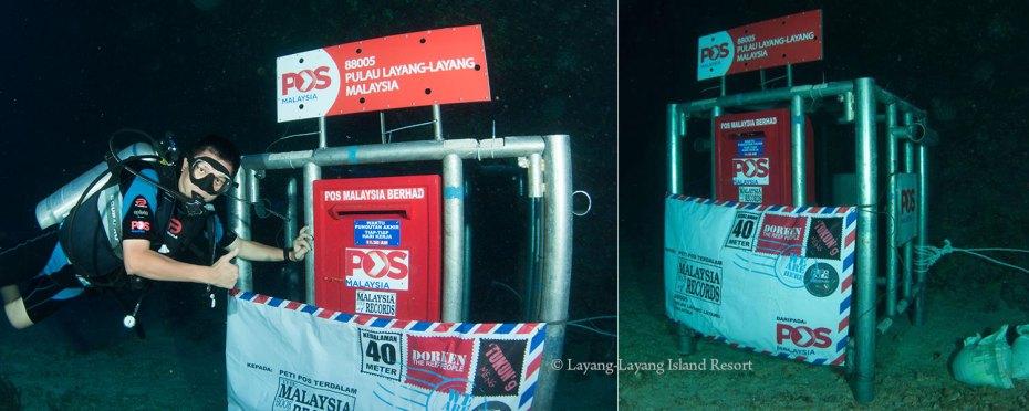 Underwater post box of Layang-Layang