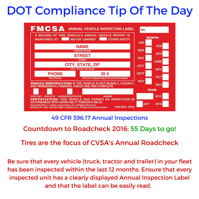 DCT- Roadcheck countdown begins!