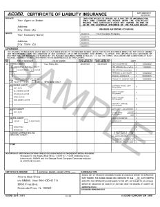construction fleet insurance certificate