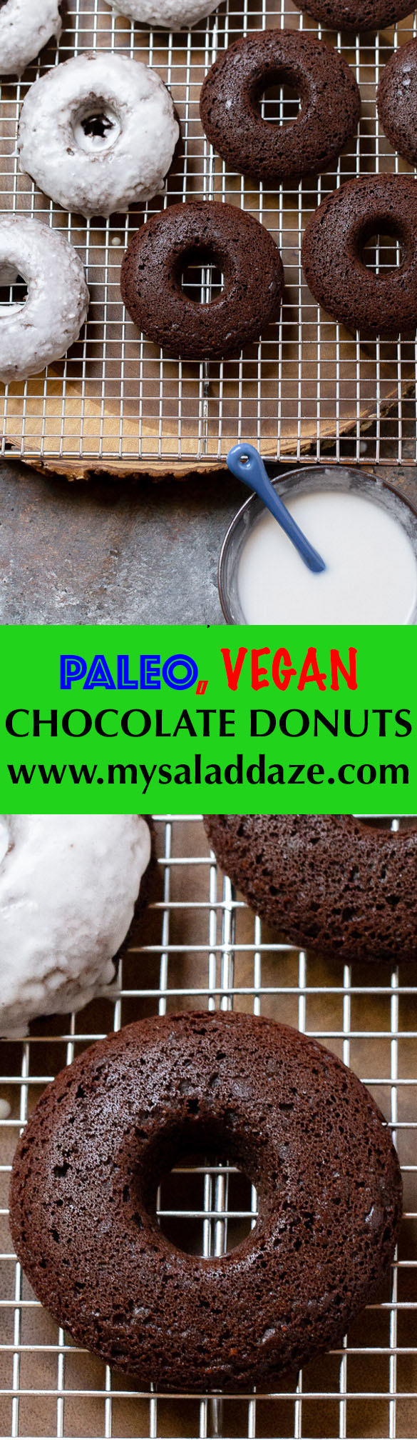 paleo vegan chocolate cake donuts
