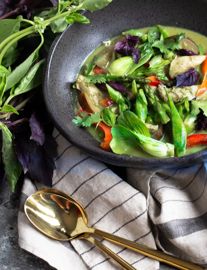 THAI GREEN CURRY | paleo, whole 30 option
