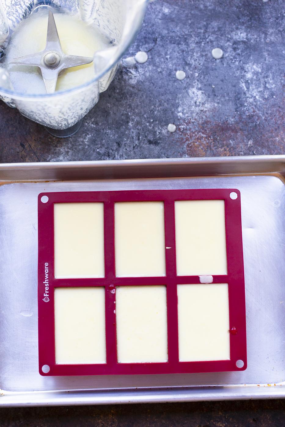 vegan butter in molds