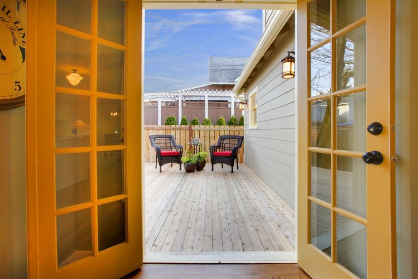 san diego homes with french patio doors