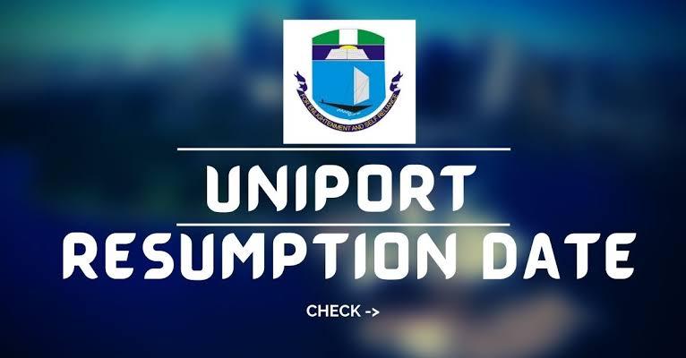 UNIPORT Resumption Date
