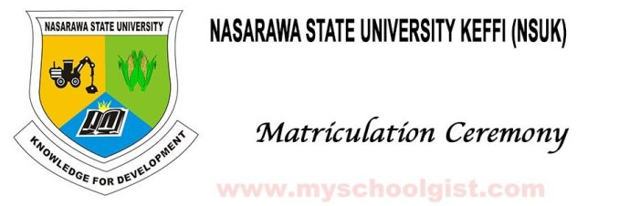 nsuk matriculation ceremony