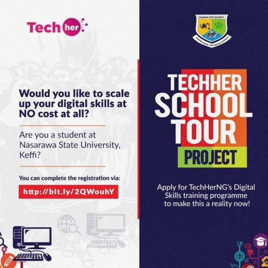 TechHerNG Digital Skills Training Registration 2021 for NSUK Students