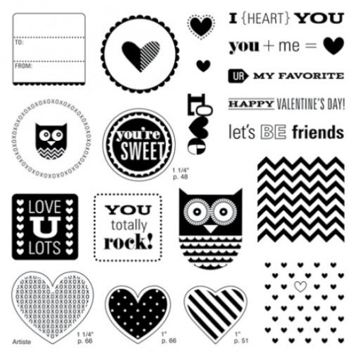 Whooo's Your Valentine Stamp Set ~ WendyKessler.CTMH.com