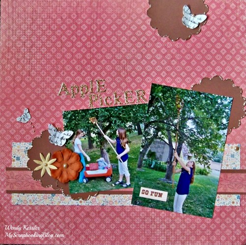 Apple Picking Layout by Wendy Kessler