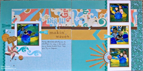 Making' Waves Layout by Wendy Kessler