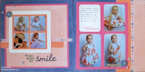You Make Me Smile Layout by Wendy Kessler