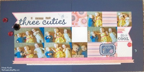Three Cuties Layout by Wendy Kessler
