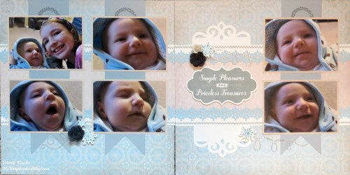 Simple Pleasures Layout by Wendy Kessler