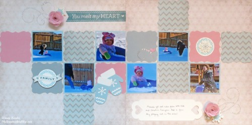 You Melt My Heart Layout by Wendy Kessler
