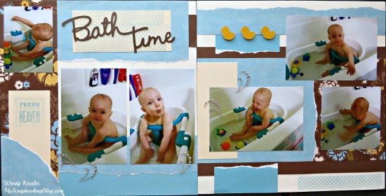 Bathtime Layout by Wendy Kessler