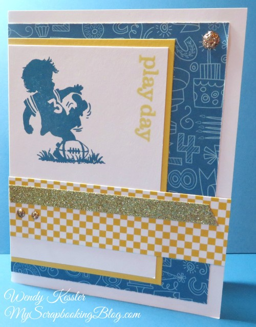 Playday Boy Card by Wendy Kessler