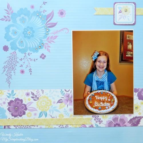 Birthday Layout by Wendy Kessler