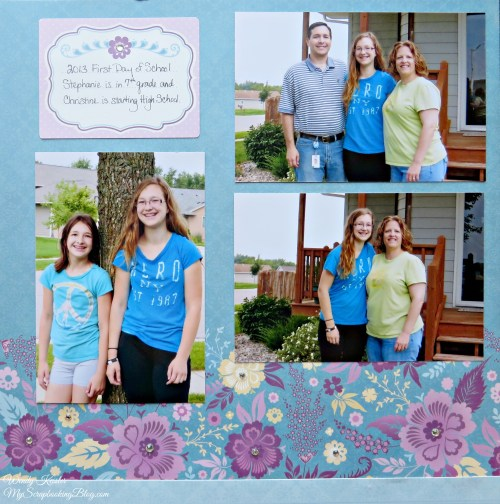 First Day of School Layout by Wendy Kessler
