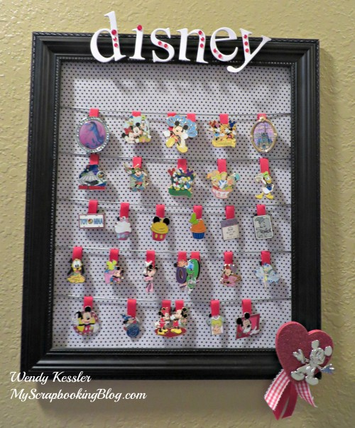Disney Pin Trading Frame by Wendy Kessler