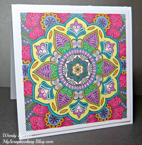 Bright Colored Card by Wendy Kessler