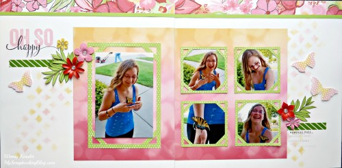 Oh So Happy Layout by Wendy Kessler