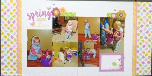 Spring/Easter Layout by Wendy Kessler