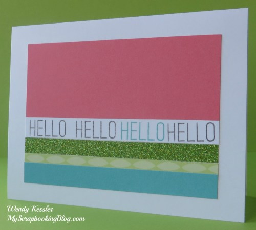 Hello Card by Wendy Kessler