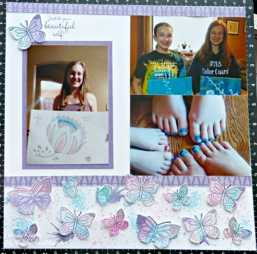 Your Beautiful Self layout by Wendy Kessler