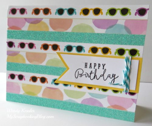 Zip Strip Card by Wendy Kessler