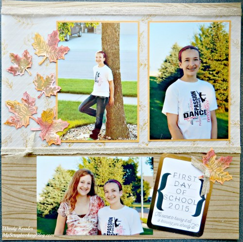 Fall School Layout by Wendy Kessler