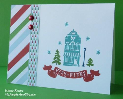 Very Merry Card by Wendy Kessler