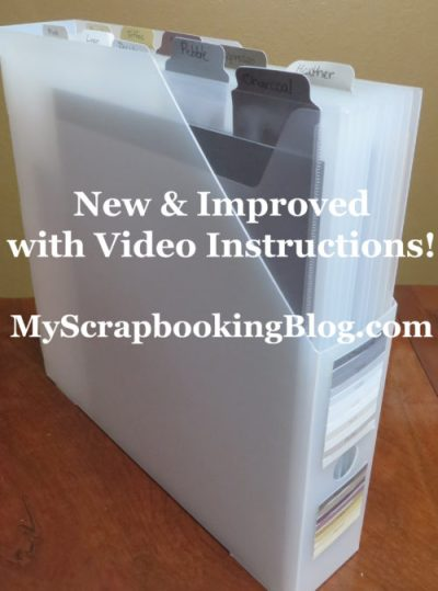A system for organizing your scrapbook paper.