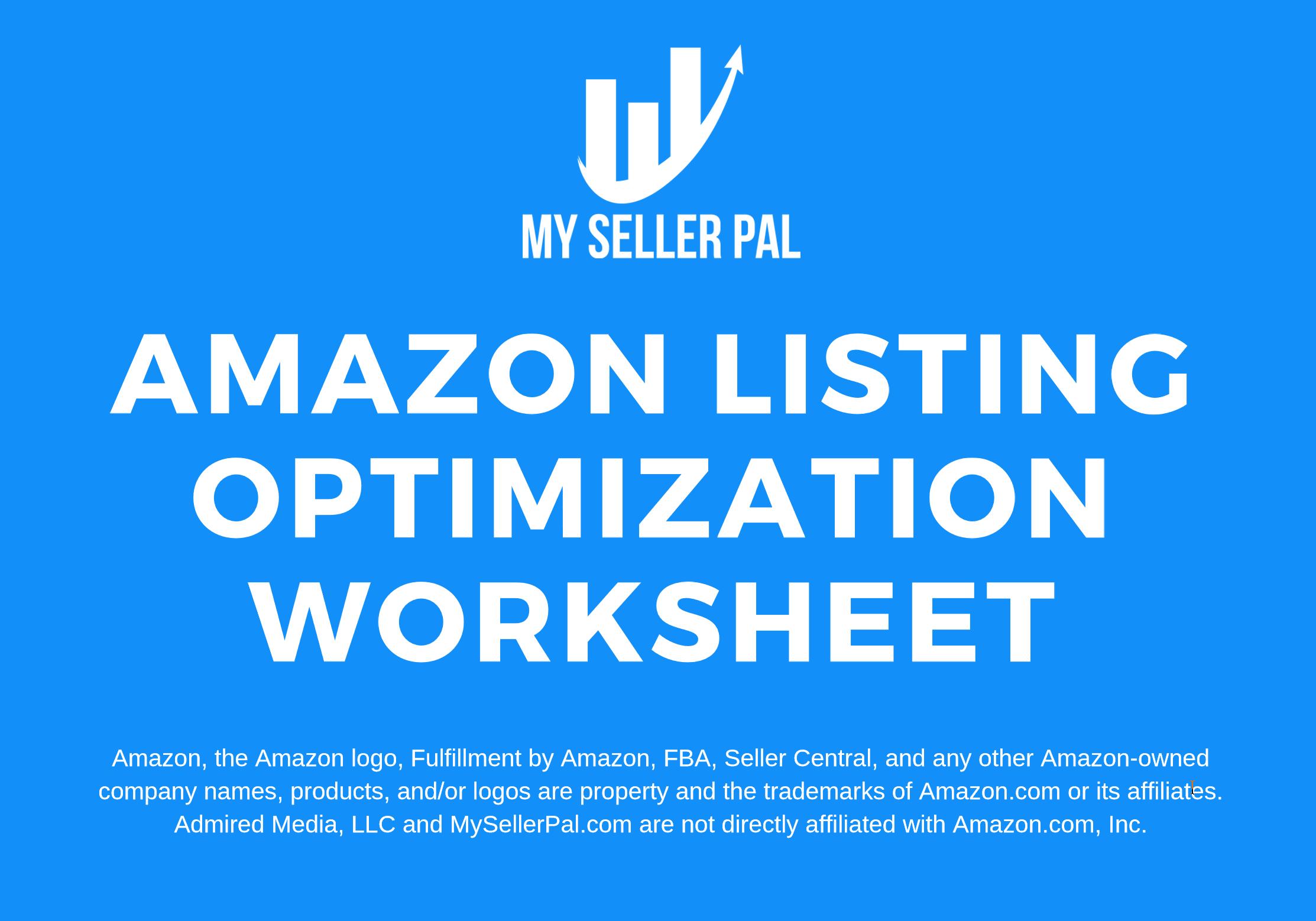 Amazon Listing Optimization Worksheet