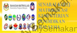 Senarai Kolej Matrikulasi KPM Malaysia
