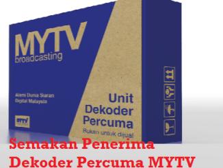 Semakan Penerima Dekoder Percuma MYTV Online