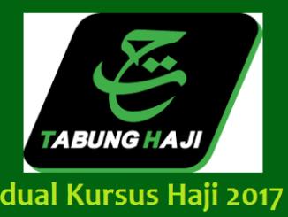 Jadual Kursus Haji 2017