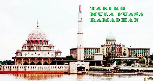 Tarikh Mula Puasa Ramadhan 2018 Di Malaysia