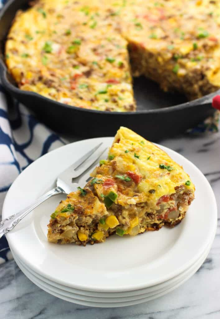 soutwestern frittata with potato and beef