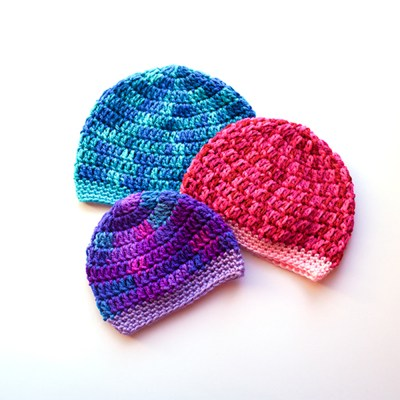 Baby beanie in 3 sizes