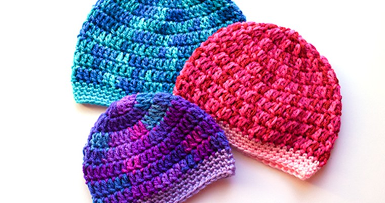 BASIC BABY BEANIE IN THREE SIZES