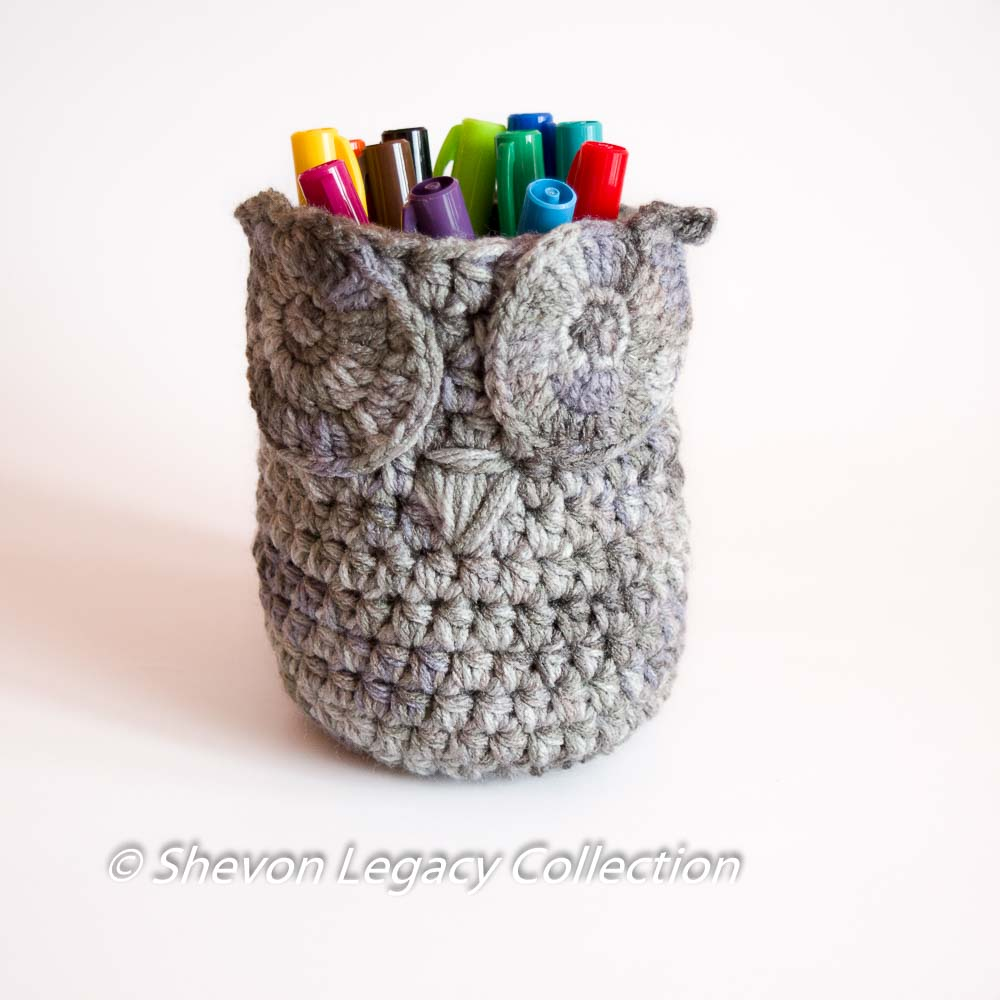 Owl basket bin pen holder home organizer crochet pattern owl basket bin pen holder bankloansurffo Images