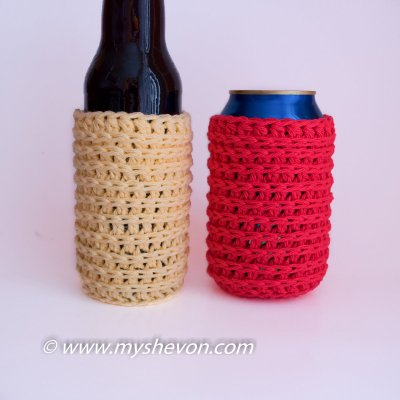 Crochet Can And Bottle Cozy Pattern Ideal For Outdoor Events