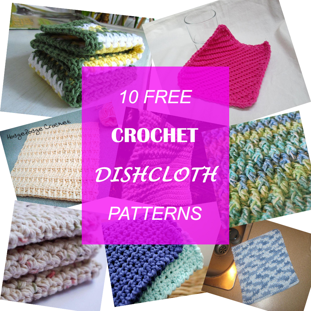 10 Free Crochet Dishcloth Patterns - A Great Idea for a Mother\'s Day ...