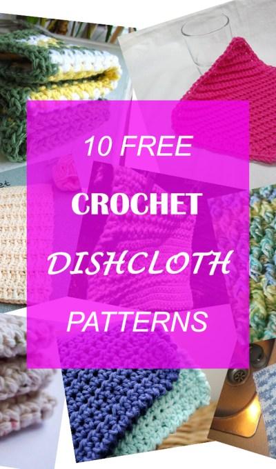 10 Free Crochet Dishcloth Patterns