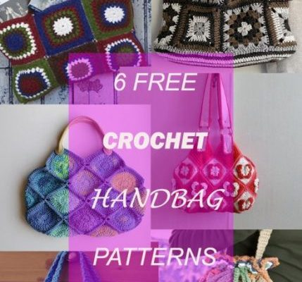 6 CROCHET GRANNY HANDBAG FREE PATTERNS