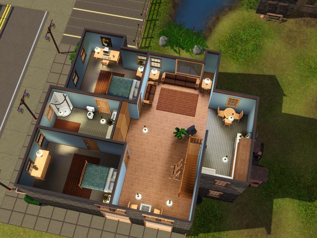 Sims 3 Apartment Interior Design